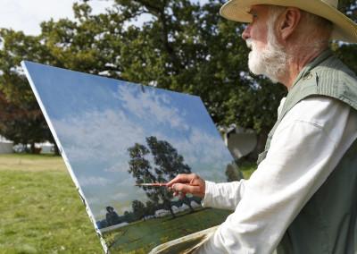 Artist at work
